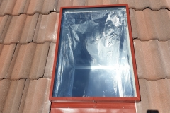 Diffused skylight on tiled roof