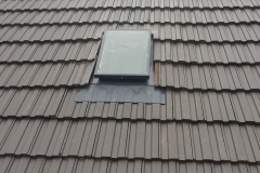 Skyvac Skylights on a cement tile roof