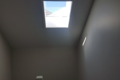 bottom view of the skylight