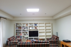 45W square recessed skylight in the living