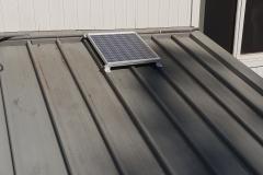 65W panel on klip lok roof