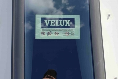 VELUX manual opening on metal roof