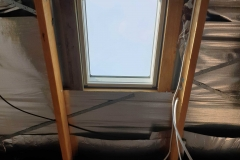 Inside look of a VELUX install